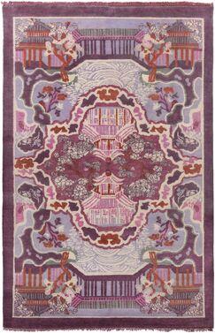 Alois Purple Area Rug Rug Size: Rectangle 5' x 8'