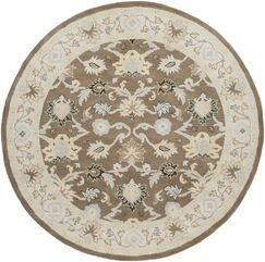 Keefer Gray Area Rug Rug Size: Round 8'