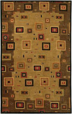 Santoro Tan/Gray Area Rug Rug Size: Rectangle 3'6