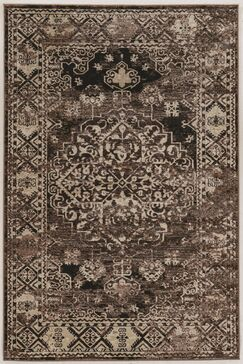 Ateao Brown Area Rug Rug Size: Rectangle 9' x 12'