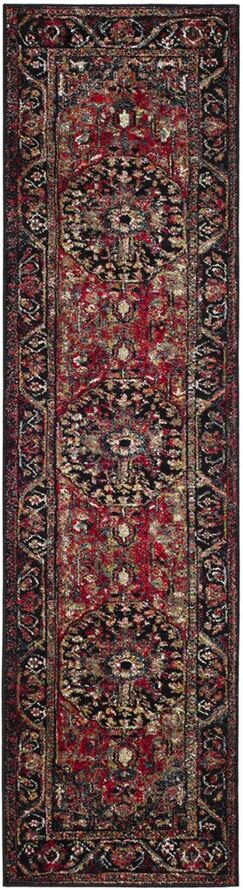 Mccall Red/Black Area Rug Rug Size: Runner 2'2