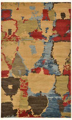 Jan Light Brown Area Rug Rug Size: Rectangle 9' x 12'