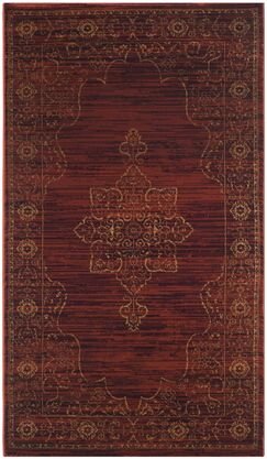 Watts Red Area Rug Rug Size: Rectangle 3'3