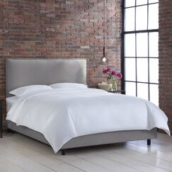 Faisan Upholstered Panel Bed Color: Klein Dove, Size: Twin