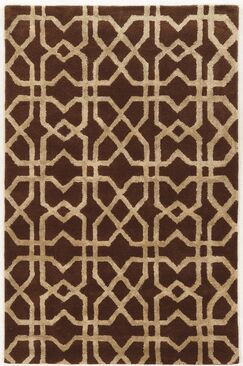 Leone Hand-Tufted Brown/Beige Area Rug Rug Size: Rectangle 2' x 3'