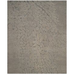 Thornton Hand-Woven Gray Area Rug Rug Size: Rectangle 5' x 8'