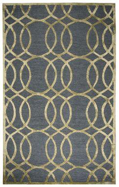 Carpathia Hand-Tufted Gray/Gold Area Rug Size: Rectangle 5' x 8'