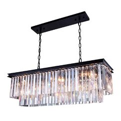 Laperle 12-Light Crystal Chandelier Finish: Mocha Brown, Crystal: Golden Teak (Smoky), Size: 18