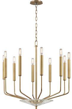 Delrick 10-Light Chandelier Finish: Aged Brass