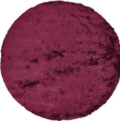 Danae Hand-Tufted Cranberry Area Rug Rug Size: Round 10'