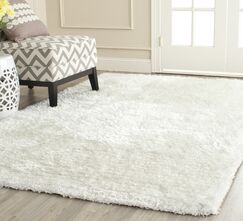 Shag Hand Tufted Ivory Area Rug Rug Size: Rectangle 5' x 8'