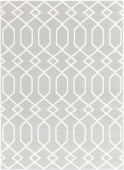 Siclen Gray/Ivory Area Rug Rug Size: Rectangle 6'7