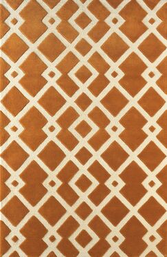 Glenside Hand-Tufted Gold/Ivory Area Rug Rug Size: Rectangle 4' x 6'