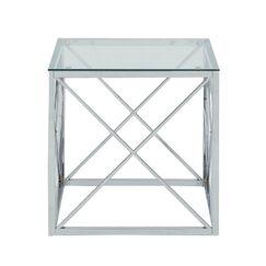 Molen Cube End Table Color: Chrome