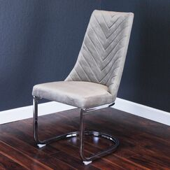 Mcclendon Upholstered Dining Chair Upholstery Color: Taupe
