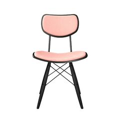 Cloughmills Upholstered Dining Chair Upholstery Color: Nordic Red, Frame Color: Black, Leg Color: Black