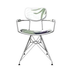 Barren Upholstered Dining Chair Leg Color: Chrome, Frame Color: White