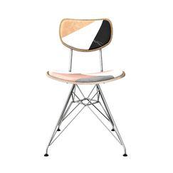 Cushenilt Upholstered Dining Chair Leg Color: Chrome, Frame Color: Natural