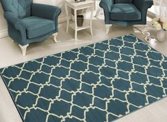 Clifton Blue Area Rug Rug Size: 5' x 7'
