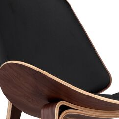 Plywood Modern Lounge Chair Upholstery: Brown, Finish: Walnut