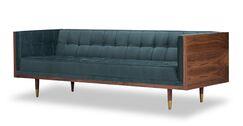 Arista Chesterfield Sofa Upholstery: Urban Pebble, Frame Finish: Ash Beige