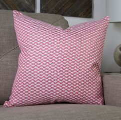 In My Own Style™ Lattice Pattern Jacquard Throw Pillow Size: 20