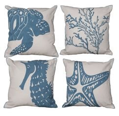 Sealife 4 Piece Throw Pillow Set