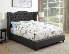 Greig Upholstered Panel Bed Size: Eastern King, Color: Slate Gray