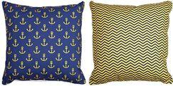 Duck Key Anchors and Chevron Throw Pillow
