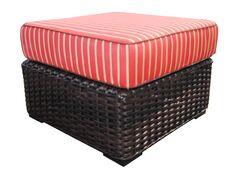 Santa Monica Ottoman with Cushion Fabric: Cocoa