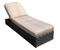 Santa Monica Chaise Lounge with Cushion Fabric: Burgandy