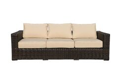 Santa Monica Sofa with Cushions Fabric: Bay Brown
