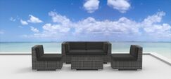 Rio 5 Piece Sofa Set with Cushions Fabric: Charcoal