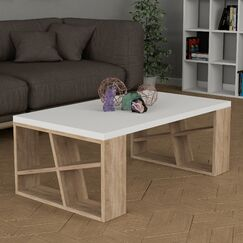 Yareli Modern Coffee Table Table Base Color: Oak