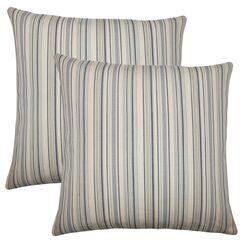 Torington Striped Cotton Throw Pillow Color: Dusk