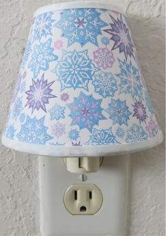 Frozen Inspired Snowflake Night Light