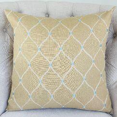 Dewdrop Handmade Throw Pillow  Size: 26
