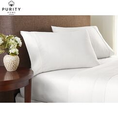 Purity Home 4 Piece 1000 Thread Count 100% Cotton Sheet Set Color: Arctic White, Size: King