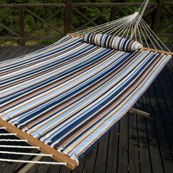 Allison Cotton Tree Hammock Color: Seaside Stripe