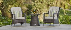 Baptist 3 Piece Bistro Set with Cushions