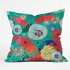 Flower Throw Pillow Size: 16