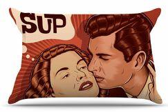 Yo Sup by Roberlan Pillow Sham Size: King