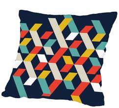 Abstract #1 Outdoor Throw Pillow Size: 20