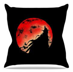 Cloak by BarmalisiRTB Throw Pillow Size: 20