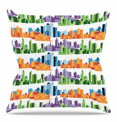 Australian Cities by Stephanie Vaeth Throw Pillow Size: 18
