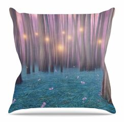 Feather Dance by Viviana Gonzalez Throw Pillow Size: 18
