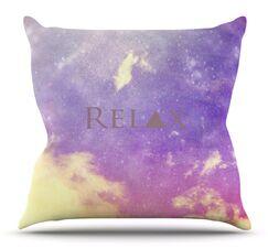 Relax by Rachel Burbee Outdoor Throw Pillow