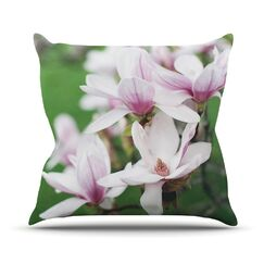 Magnolias by Angie Turner Outdoor Throw Pillow