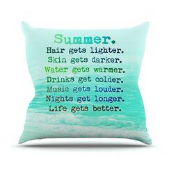 Summer XXL Outdoor Throw Pillow