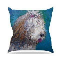Shaggy Dog Story Throw Pillow Size: 16